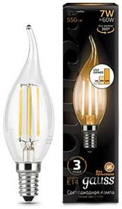 Лампа Gauss LED Filament Candle tailed E14 7W 2700К 104801107